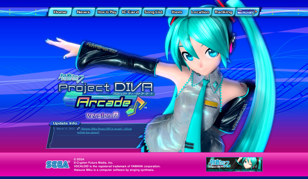 Project Diva Arcade English Page